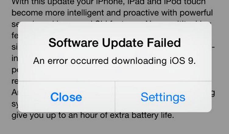 Не удалось обновить программное обеспечение iOS 9?  Вот как получить обновление с помощью компьютера