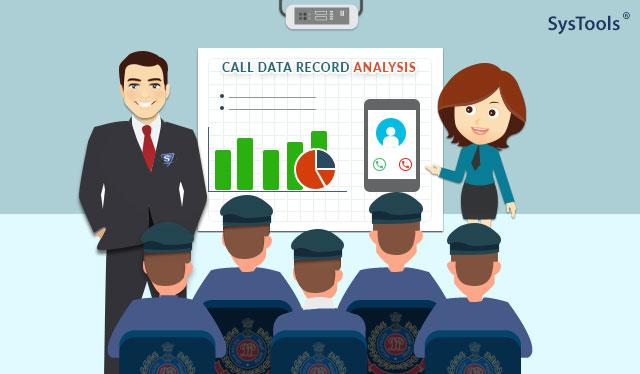 Сеанс анализа записи данных о звонках, проведенный SysTools для сотрудников полиции Дели