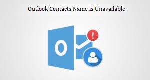 Имя контактов Outlook недоступно в адресной книге [Error Fixed]