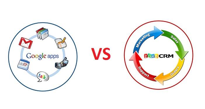 Сравните Zoho Mail и Google Apps, чтобы отличить разные функции