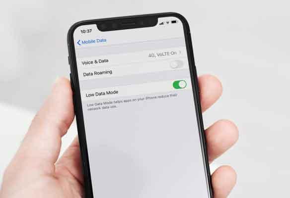 Как включить или отключить режим низкого уровня данных на iPhone