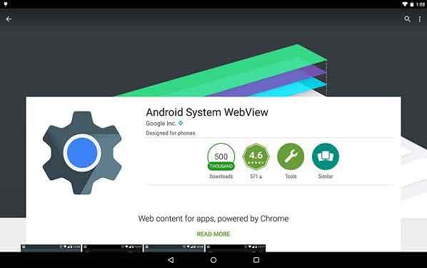 Что такое Android System WebView?