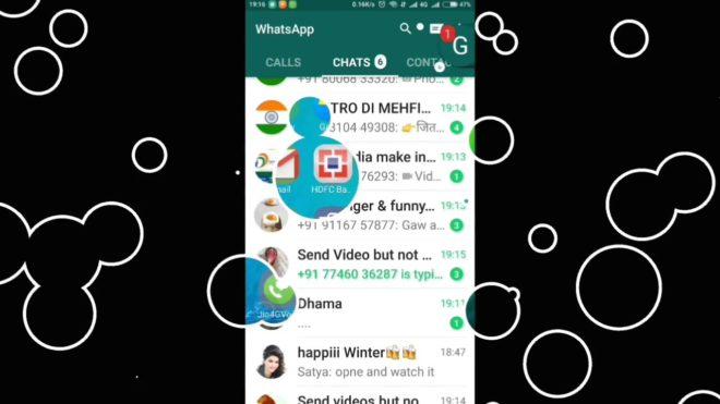 Как добавить пузыри чата в WhatsApp, например Messenger