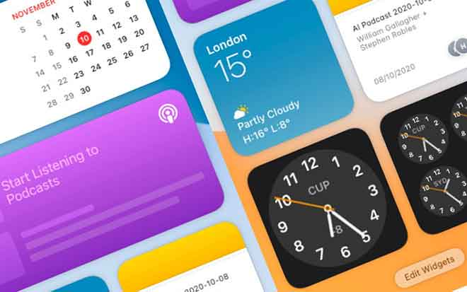 Как добавить или удалить виджеты в macOS Big Sur