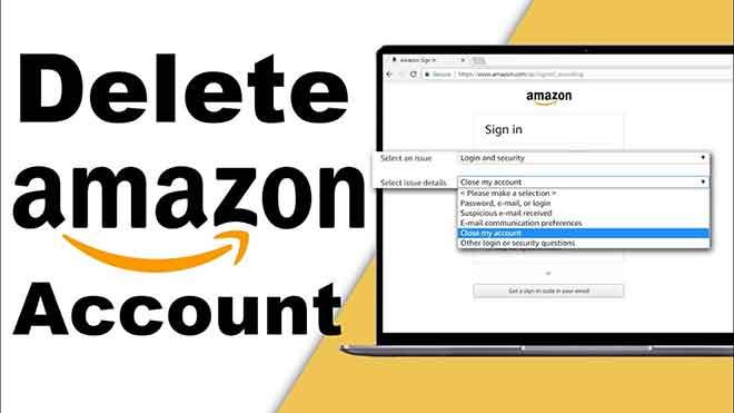 Как удалить учетную запись Amazon