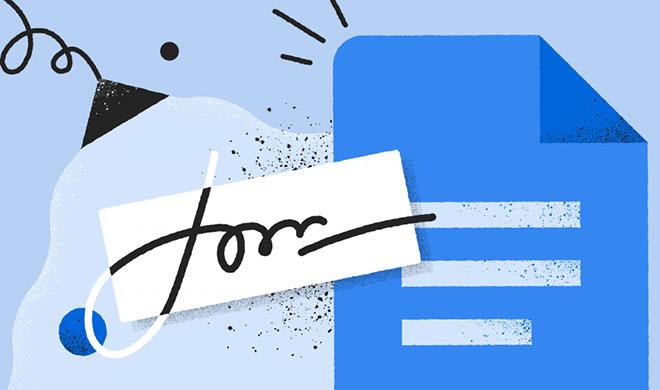 Как вставить подпись в Google Docs