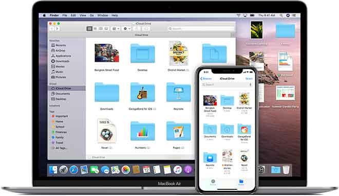Как загружать файлы в iCloud с ПК