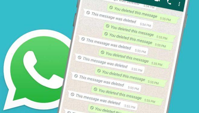 Whatsapp, функция удаления для всех не появляется