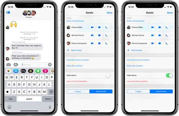 Как создать групповой чат на iPhone